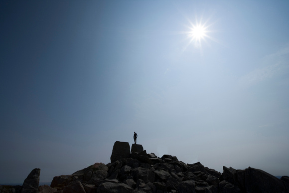 adam and eve at the top of Tryfan Wales