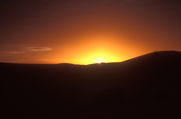 sunset over the sahara desert, Morocco